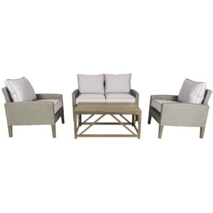 Clinton 4 Piece Sofa Set with Cushions