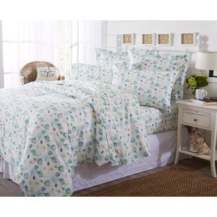 Claribel Printed Coastal Pattern Duvet Cover