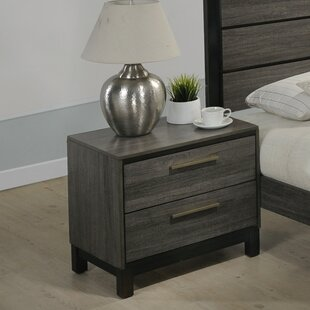 Mandy 2 Drawer Nightstand by Gracie Oaks