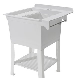 Maddox Workstation 25 4 X 8 Free Standing Laundry Sink