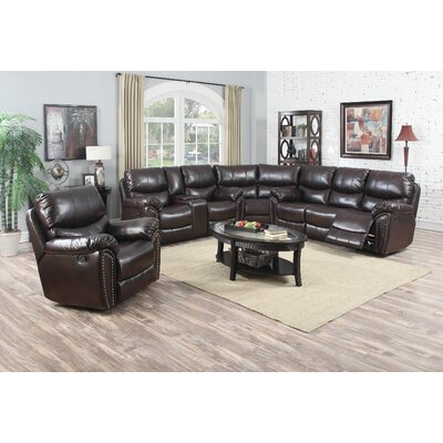 Tombstone Reclining Sectional Avalon Furniture