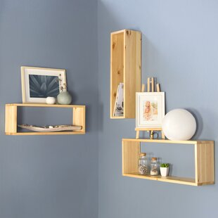 Aphrodite 3 Piece Wall Shelf Set By Natur Pur