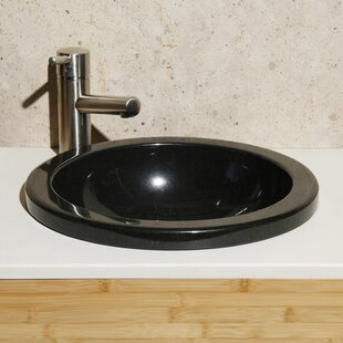 Reviews Granite Stone Circular Drop-In Bathroom Sink By Allstone Group