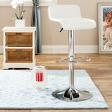 Sepviva Adjustable Height Swivel Bar Stool by Wrought Studio™