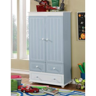 Buy clear Kathie Wooden Armoire By Harriet Bee