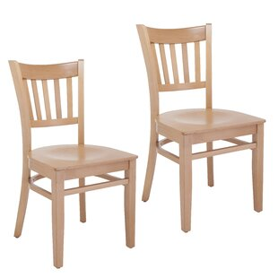 Jeske Slatback Solid Wood Dining Chair (Set of 2) Charlton Home