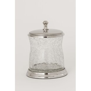 Gilligan Crackle Glass Cotton Storage Jar By Charlton Home