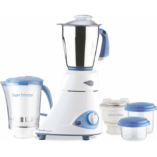 Leaf Platinum 550 Watts 5 speed 3 Jar Mixer Grinder