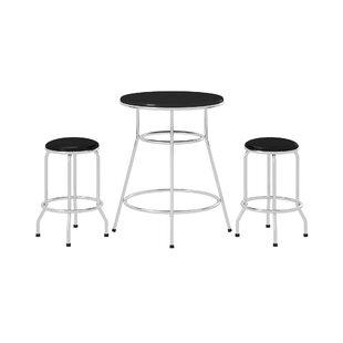Depew Round 3 Piece Pub Table Set by Ebern Designs