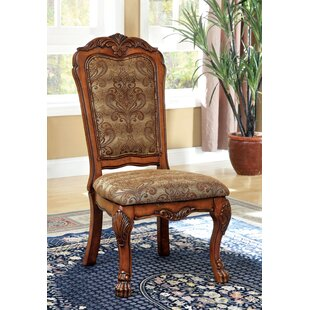 Evangeline Upholstered Dining Chair (Set of 2) Hokku Designs