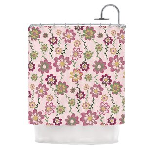 Romantic Flowers by Nika Martinez Blush Floral Single Shower Curtain