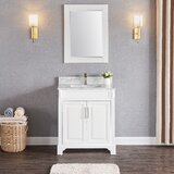 Exquisite Home 30 Single Bathroom Vanity Set with Mirror by Charlton Home