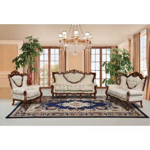 Order Waleska 3 Piece Gold And White Embossed Fabric Standard Living Room Set by Astoria Grand Reviews (2019) & Buyer's Guide