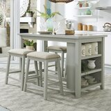 Dardanelle 5 Piece Counter Height Breakfast Nook Dining Set by Ophelia & Co.