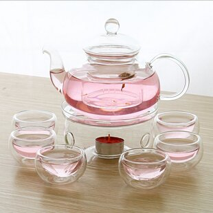 Gatton 9 Piece Glass Tea Set