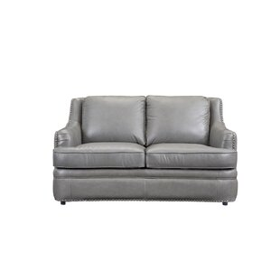 Canora Grey Dreyer Leather Loveseat