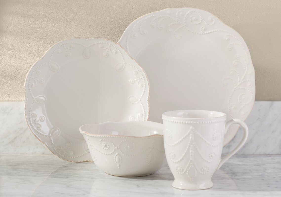French Perle 4 Piece Place Setting Service for 1 & Lenox French Perle 4 Piece Place Setting Service for 1 \u0026 Reviews ...