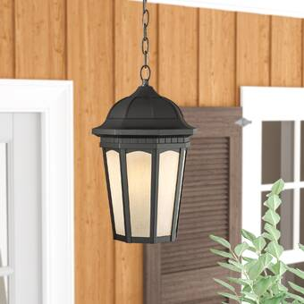Longshore Tides Carrasquillo Black 1 Bulb Outdoor Pendant Reviews Wayfair
