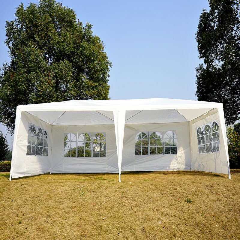 Outsunny 20 Ft W X 10 Ft D Steel Party Tent Canopy Reviews Wayfair Ca