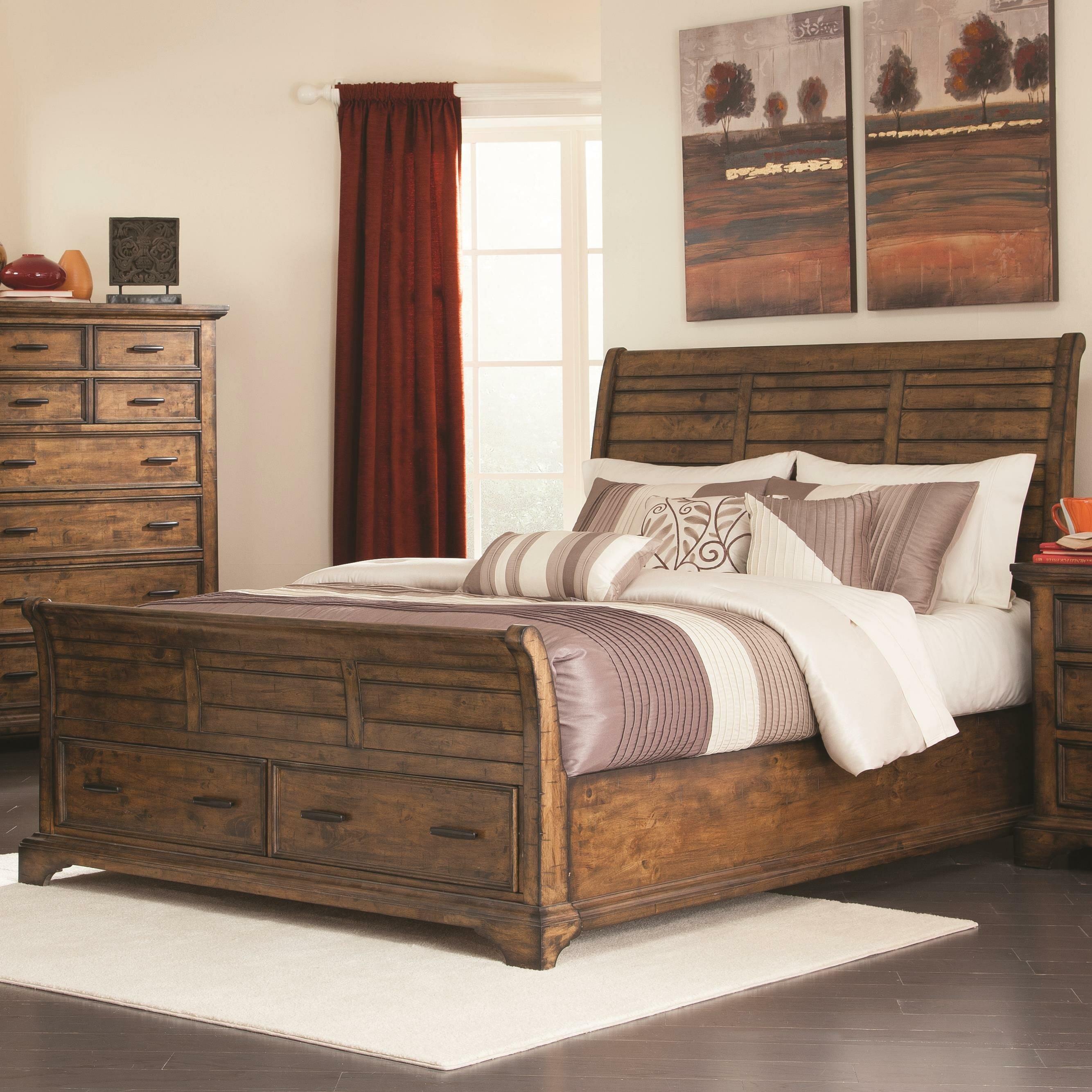 Charlton Home Canup California King Storage Sleigh Bed Wayfair