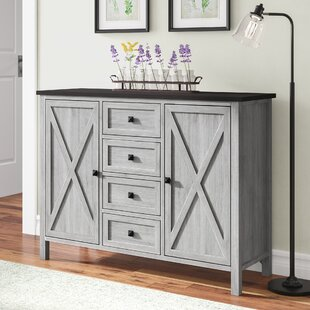 Lamb Farmhouse 4 Drawer 2 Door Accent Cabinet by Gracie Oaks