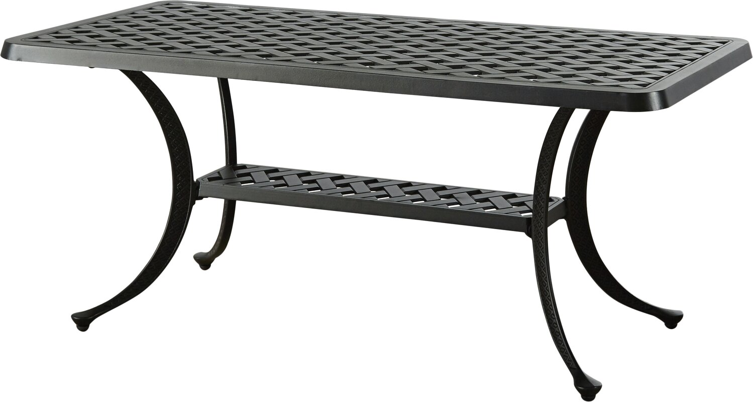 Outdoor coffee tables lomax cast aluminum rectangular coffee table geotapseo Images
