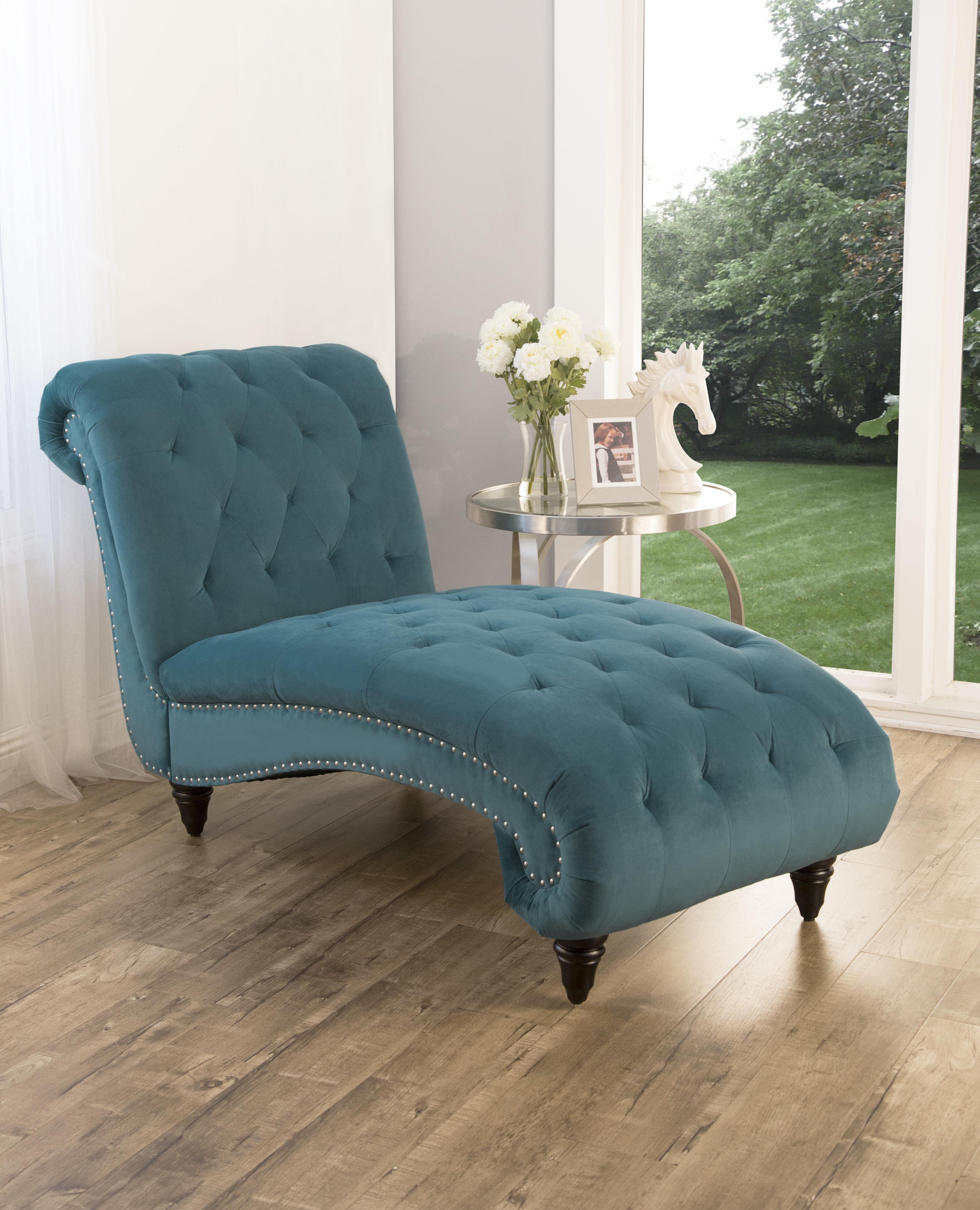 - House Of Hampton Atkin Tufted Velvet Chaise Lounge & Reviews Wayfair