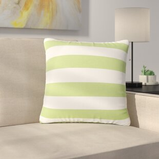 Mayle Square Striped Indoor/Outdoor Throw Pillow (Set Of 2) by Ebern Designs Fresh