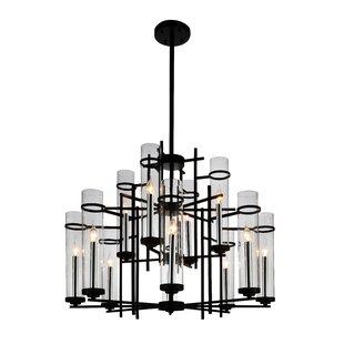 Gracie Oaks Maren 12-Light LED Candle-Style Chandelier