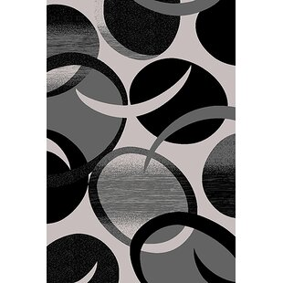 Best Choices Mccampbell Gray/Black Area Rug By Ivy Bronx