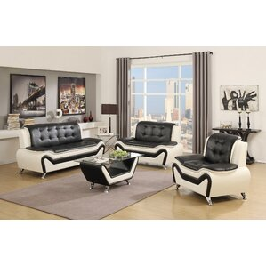 Latitude Run Elzada 4 Piece Living Room Set