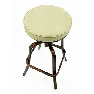 Neptune Adjustable Height Patio Bar Stool with Cushion