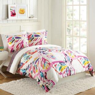 Butterfly Flutter Reversible Comforter Set