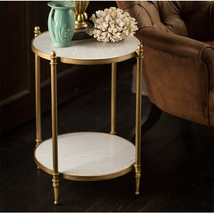 Madelynn 2 Tiered Iron End Table by Rosdorf Park
