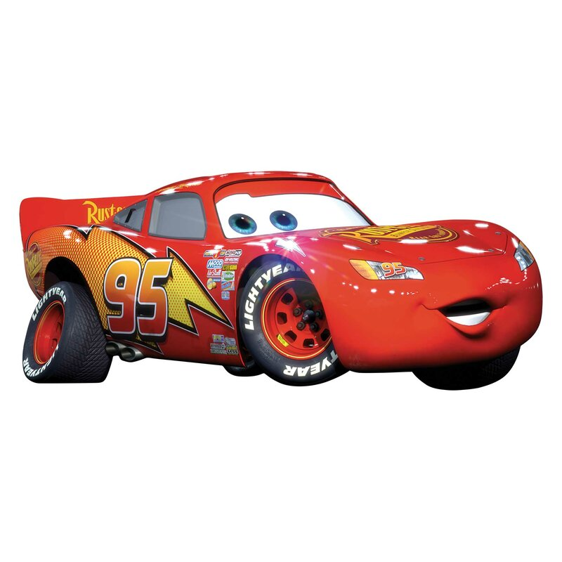 Wallhogs Disney Cars Lightning Mcqueen Wall Decal Wayfair
