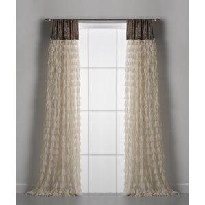 chichi solid semisheer rod pocket single curtain panels