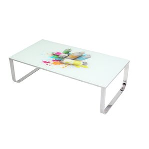 Art Glass Coffee Table by BestMasterFurniture