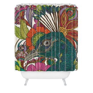 Bungalow Rose Deepak Alexis And The Flowers Extra Long Shower Curtain