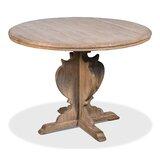Metrodora Pine Solid Wood Dining Table by Rosalind Wheeler