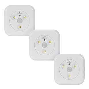 Globe Electric Company Motion Activated Slim Under Cabinet Puck Light (Set of 3)