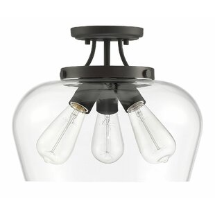 Hickerson 3-Light LED Semi Flush Mount by Mercury Row