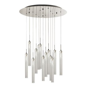 Marcos 13-Light Cluster Pendant by Ivy Bronx