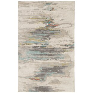 Fairlop Hand-Tufted Tidal Foam/Bungee Cord Area Rug By Ivy Bronx