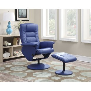 Able Manual Recliner with Ottoman by A&J Homes Studio