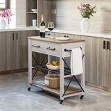 Zarmig Aurora Kitchen Cart by Gracie Oaks