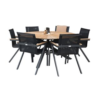 Anoki Dining Set With 6 Chairs By Ebern Designs