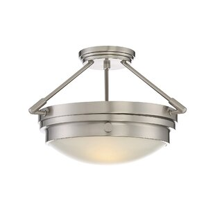Aralene 2-Light Semi-Flush Mount by Beachcrest Home