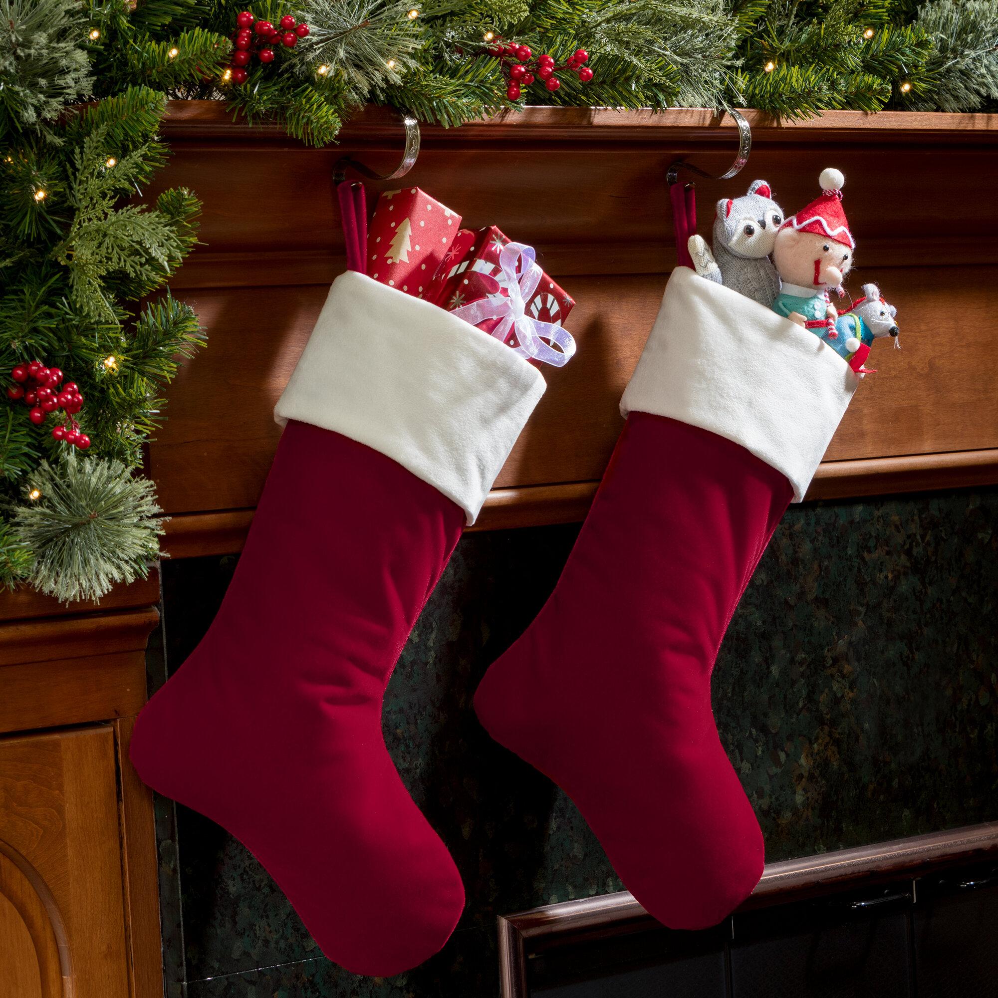 Haute Decor Hangright Deluxe Christmas Stocking Reviews Wayfair Ca