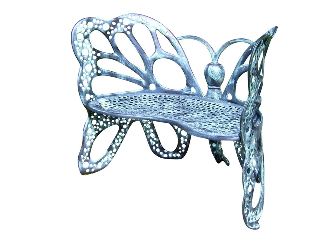 Flowerhouse Butterfly Aluminum Garden Bench & Reviews   Wayfair
