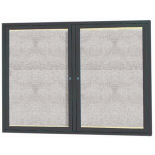Enclosed Wall Mounted Bulletin Board by AARCO